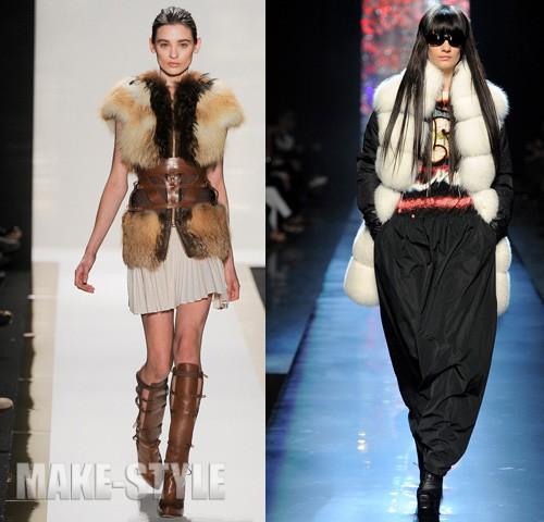 Модные Меховые Жилеты 2012